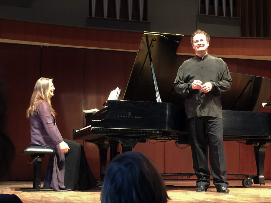 Russell Braun, baritone; Carolyn Maule, piano. (Photo: Joseph So)