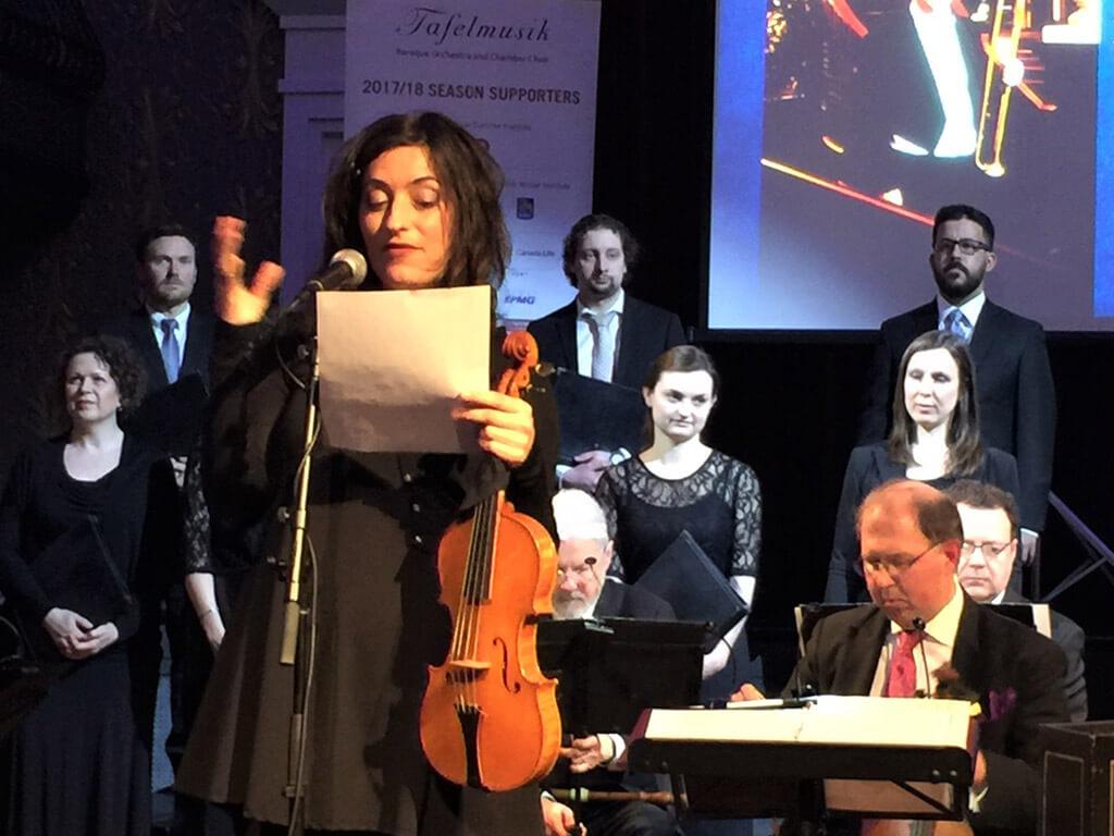 Tafelmusik Music Director, Elisa Citterio (Photo: Joseph So)