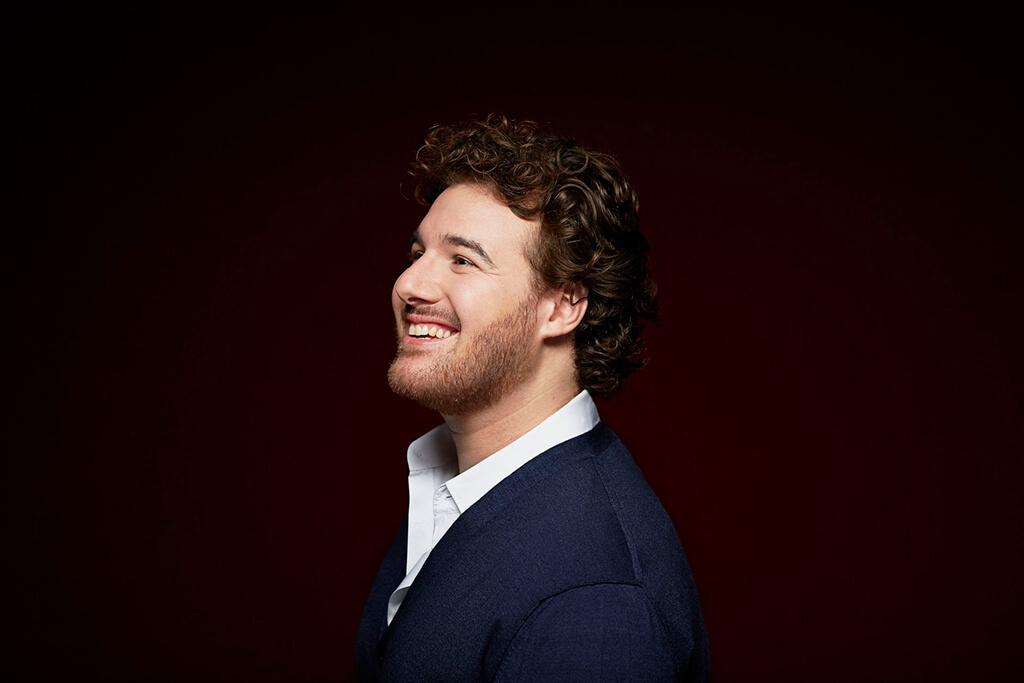 On the occasion of his North American debut, the Swiss tenor shares his thoughts on singing Mozart, hiking in the mountains, and Roger Federer. (Photo: Franziska Schrodinger)