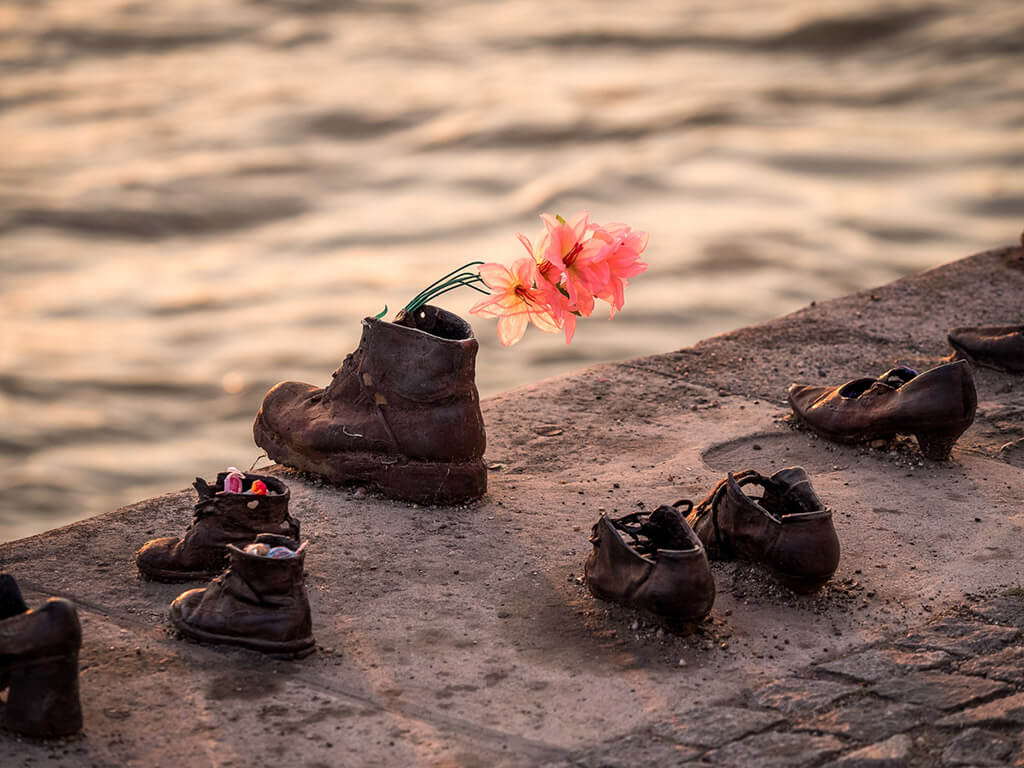 Shoes on the Danube Bank, Budapest, Hungary Holocaust memorial. (Photo: Mika Ruusunen)