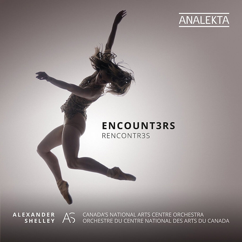 ENCOUNTERS. Staniland: Phi, Caelestis. Lizée: Keep Driving, I'm Dreaming. Lau: Dark Angels. National Arts Centre Orchestra/Alexander Shelley. Analekta AN2 8871-2 (2 CDs). Total Time: 87:02.