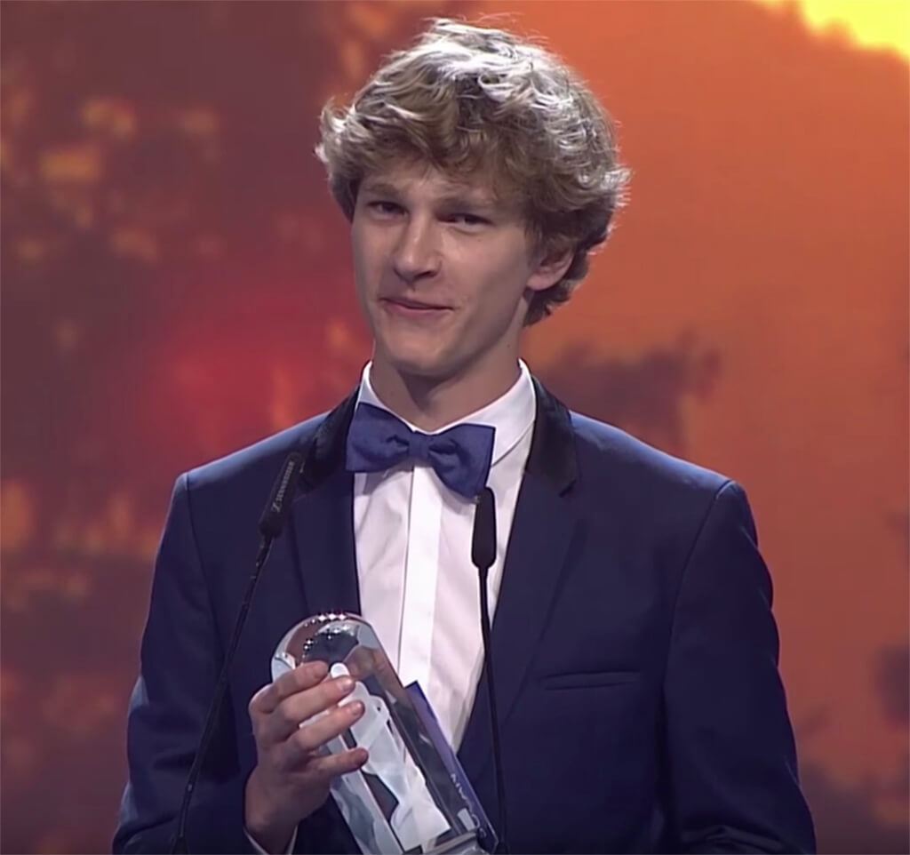 Jan Lisiecki wins Classical Album of the Year: Large Ensemble at the 2018 Juno Gala, Vancouver, BC.