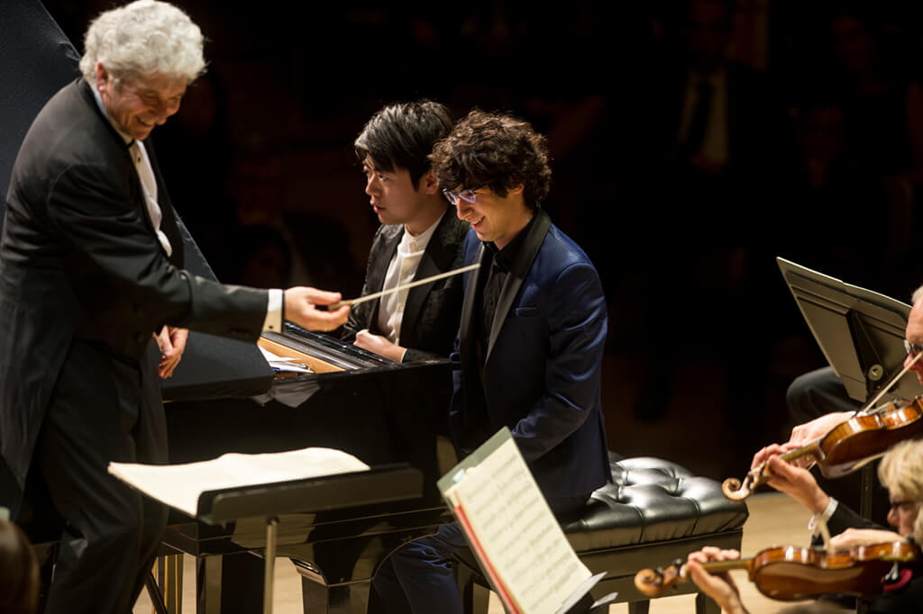 Peter Oundjian, Lang Lang, and Maxim Lando (Photo: Jag Gundu)