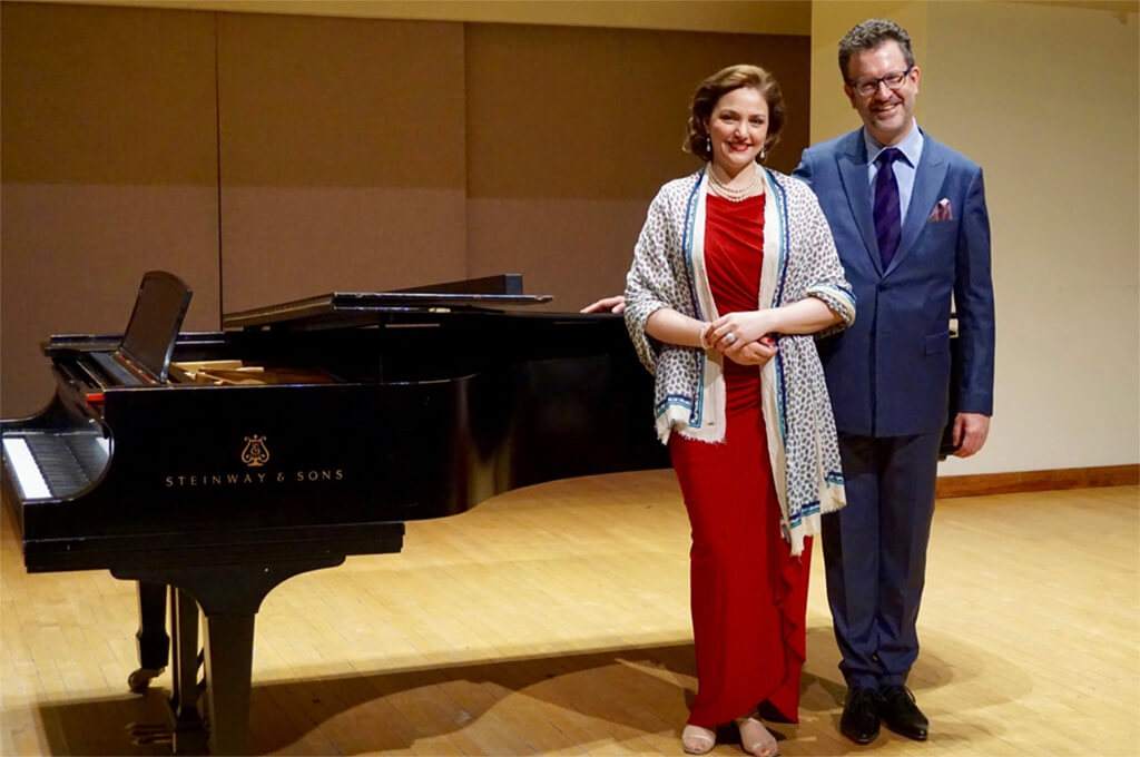 Sylvia Schwartz, soprano; Olivier Godin, piano (Photo courtesy of the WMCT)