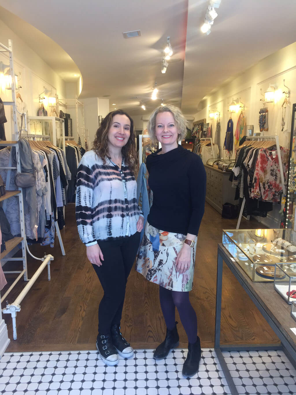 Carla Huhtanen with Canon Blanc's owner, Caroline Phely