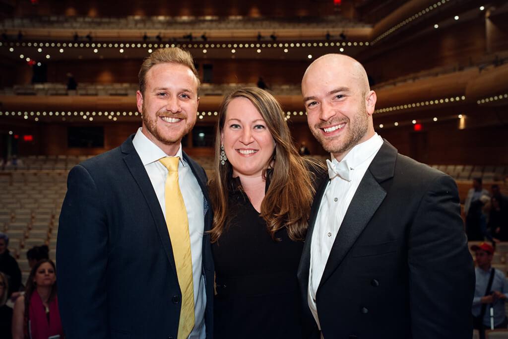 Art Song winners (l. to r.) Julien Van Mellaerts baritone, (N-Z); Clara Osowski, mezzo (USA); John Brancy, baritone, (USA) (Photo: Tam Lan Truong)