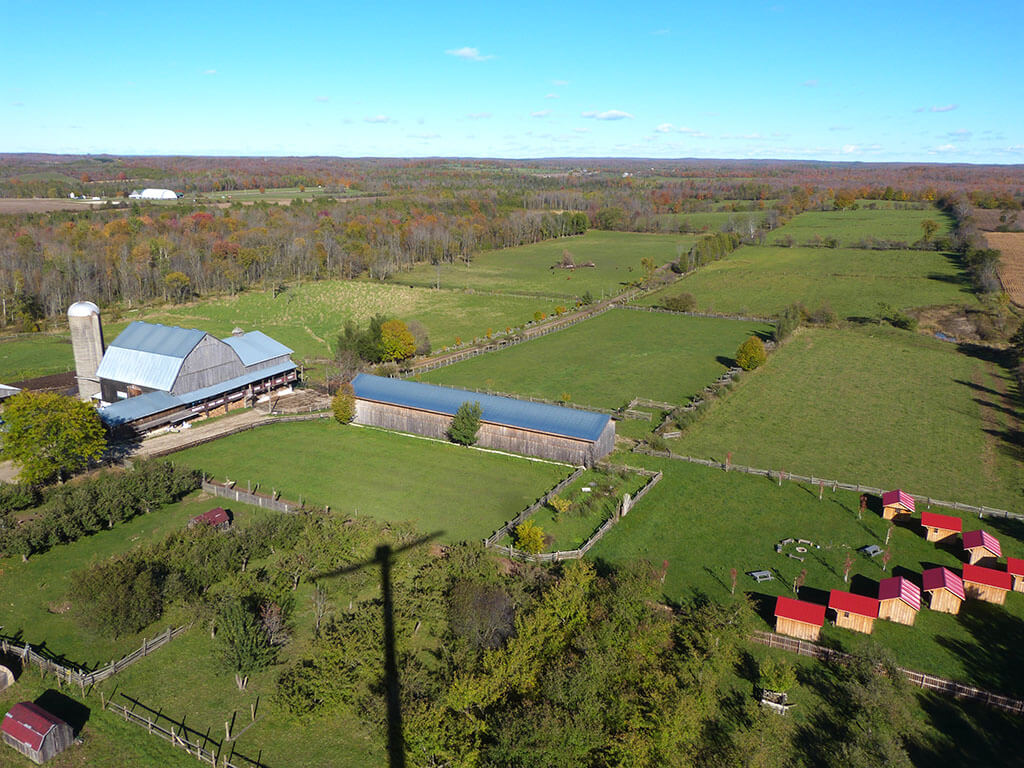 Arial view of Glencolton Farms (2017). (Photo courtesy of Symphony In The Barn)