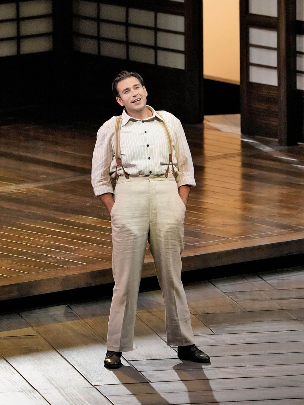 Joshua Guerrero as Pinkerton. (Photo: Ken Howard)