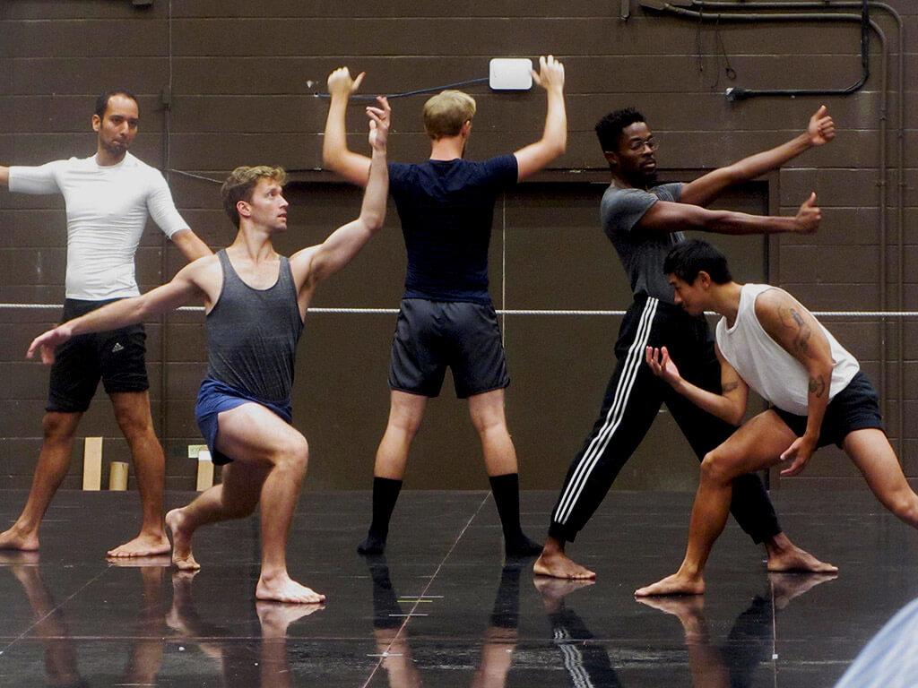 Hadrian cast in rehearsal (Photo: Joseph So)