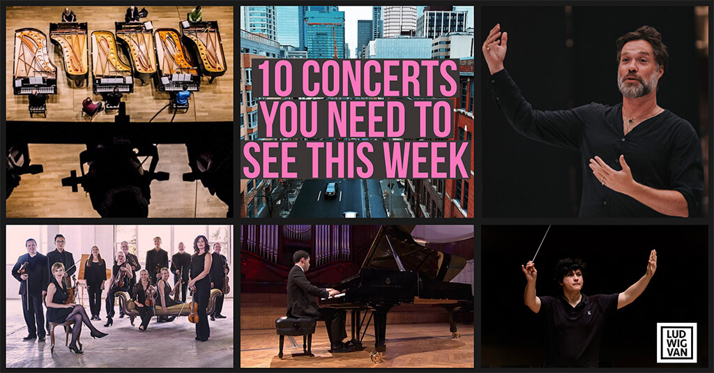 Classical music and opera events happening in and around Toronto for the week of October 8 – 14.