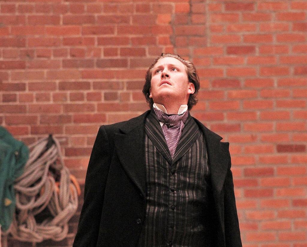 Gordon Bintner as Eugene Onegin. (Photo: Taylor Long)