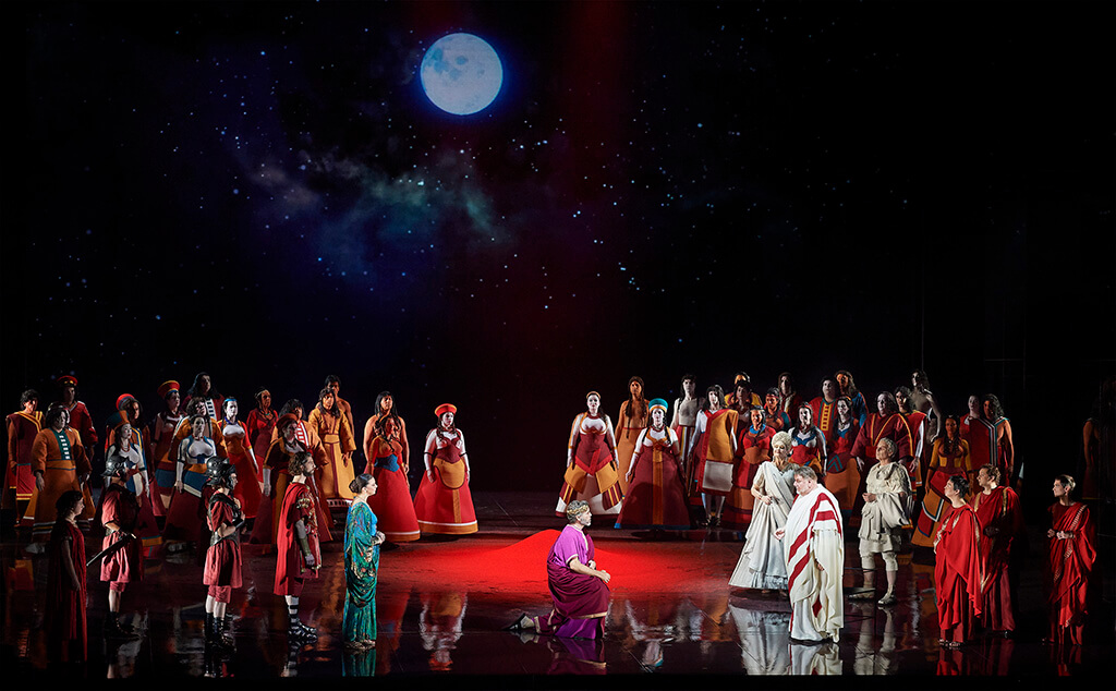 A scene. from the Canadian Opera Company's world premiere production of Hadrian (Photo: Michael Cooper)