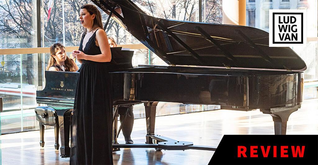 Magdalena von Eccher, piano; Anna-Sophie Neher, soprano. (Photo: Chris Hutcheson)