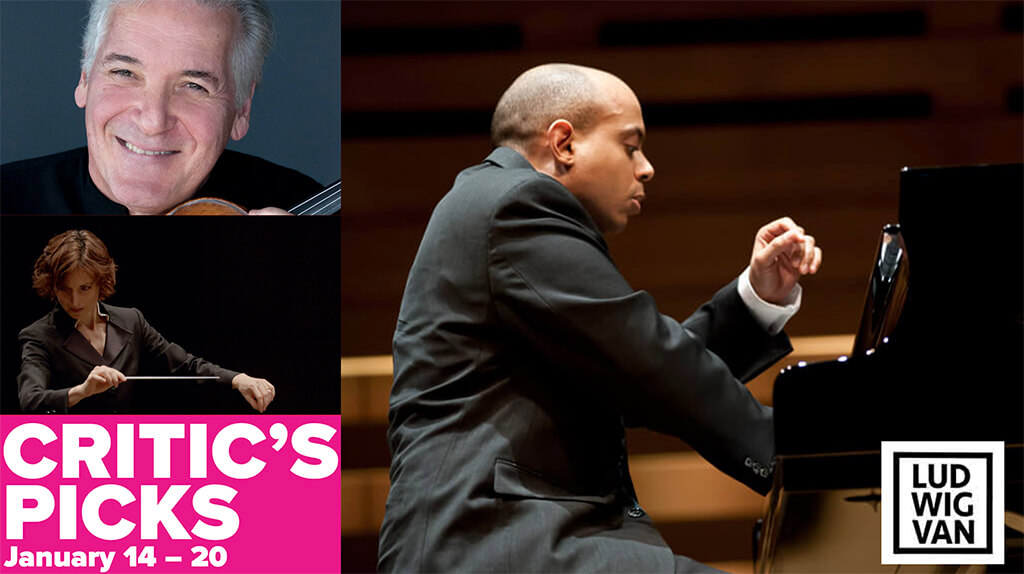 Classical music and opera events happening in and around Toronto for the week of January 14 – 20.