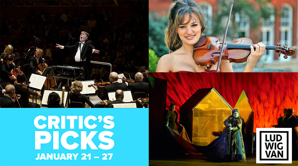 Classical music and opera events happening in and around Toronto for the week of January 21 – 27.