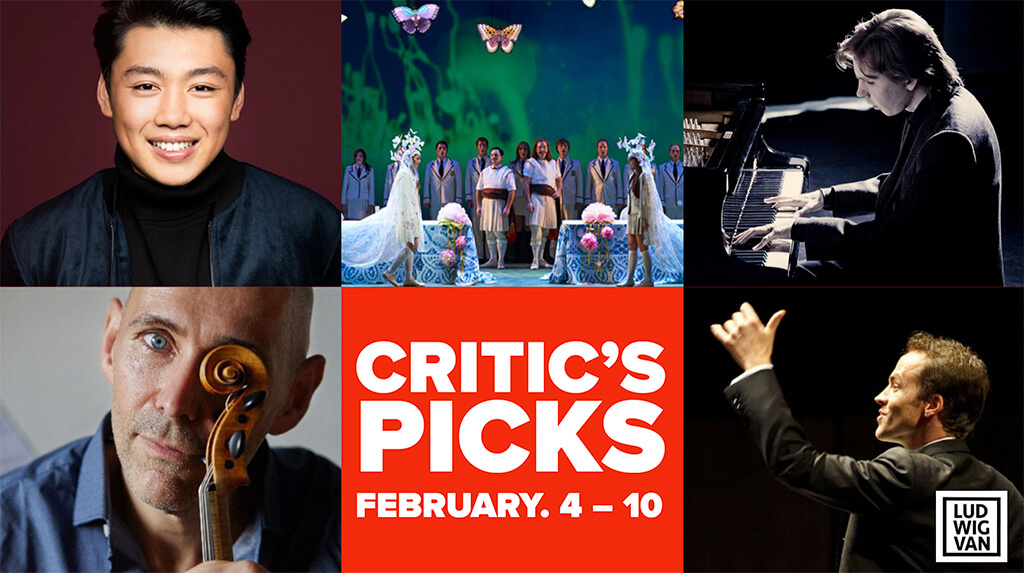 Classical music and opera events happening in and around Toronto for the week of February 4 – 10.