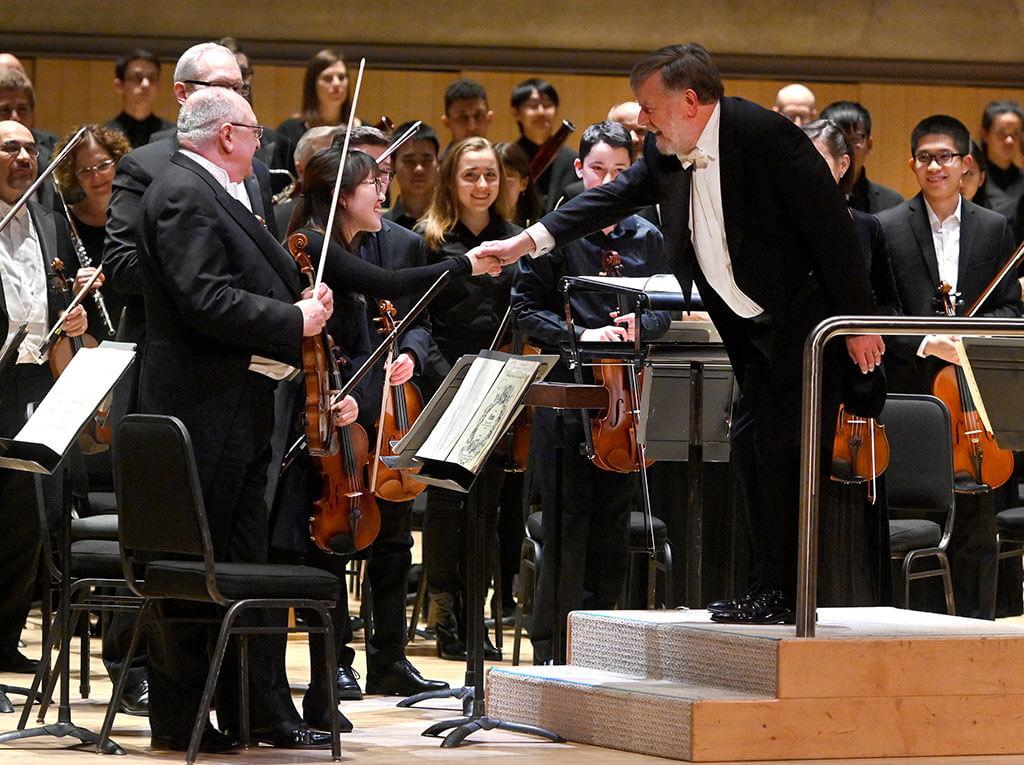 Mark Skazinetsky, Claire Hur, Sir Andrew Davis (Photo: Jag Gundu)