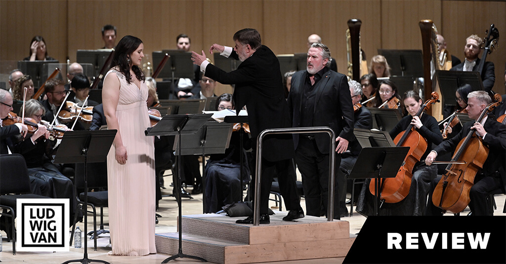 Lise Davidsen, Sir Andrew Davis, Simon O'Neill (Photo: Jag Gundu)