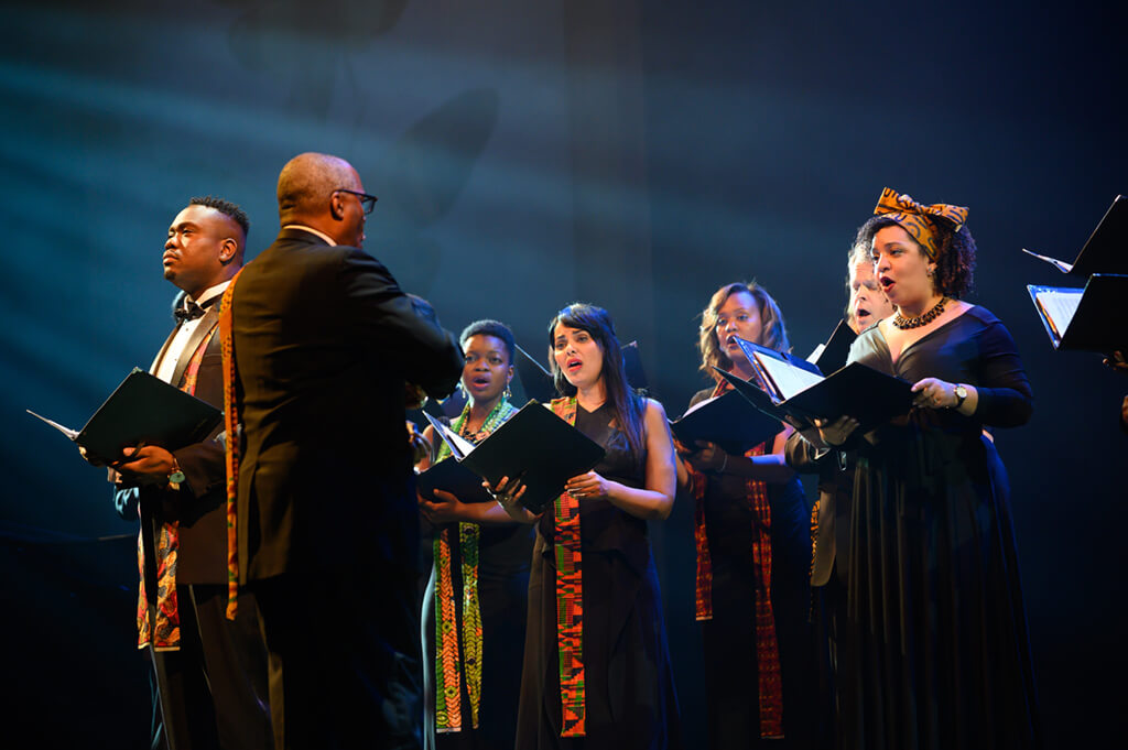 The Nathaniel Dett Chorale directed by Brainerd Blyden-Taylor