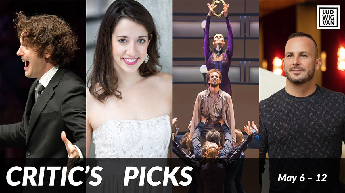Classical music and opera events happening in and around Toronto for the week of May 6 – 12.