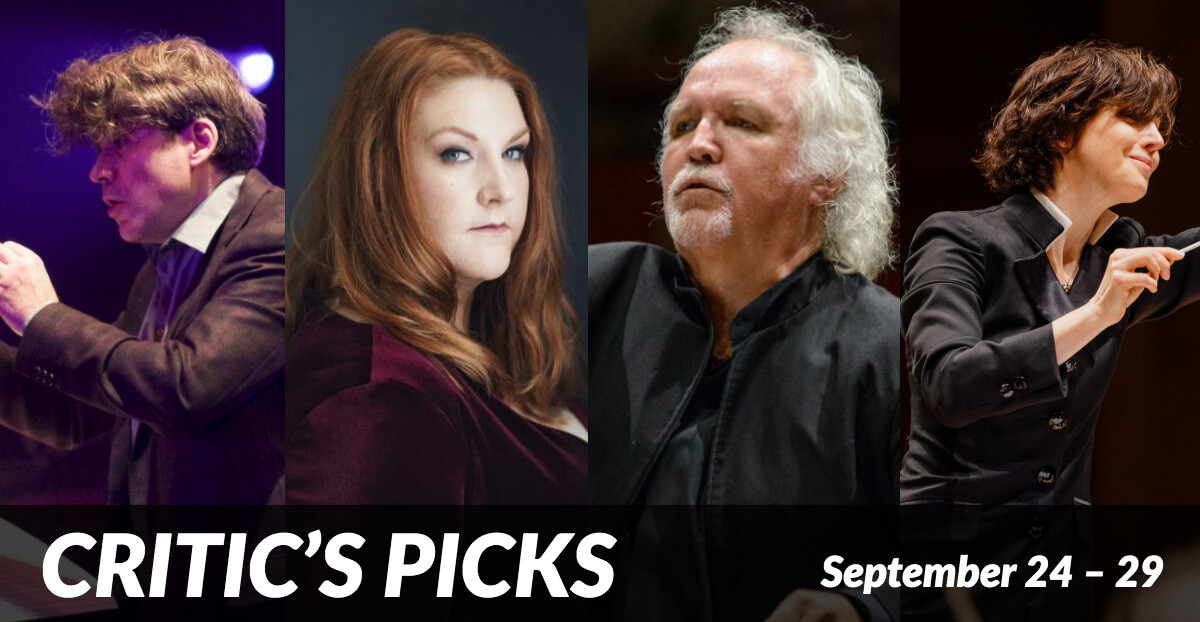 Classical music and opera events happening in and around Toronto for the week of September 24 – 29.