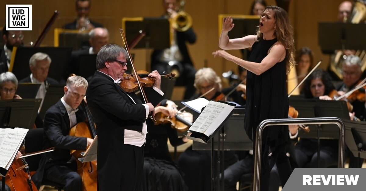 John Storgårds plays violin as Barbara Hannigan conducts the TSO