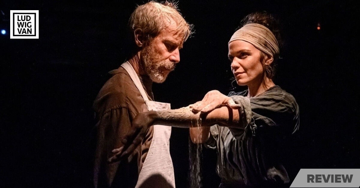 Diana Bentley and Jonathan Young in Coal Mine Theatre's 'Knives in Hens'