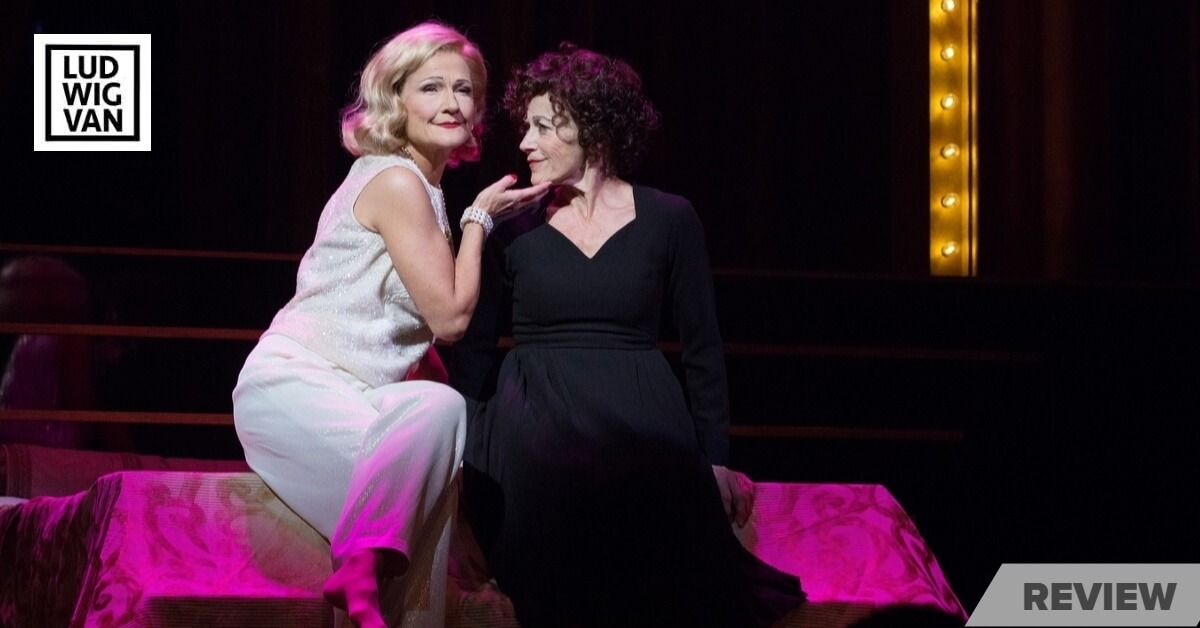 Jayne Lewis as Marlene Dietrich and Louise Pitre as Edith Piaf in Piaf/Dietrich — A Legendary Affair