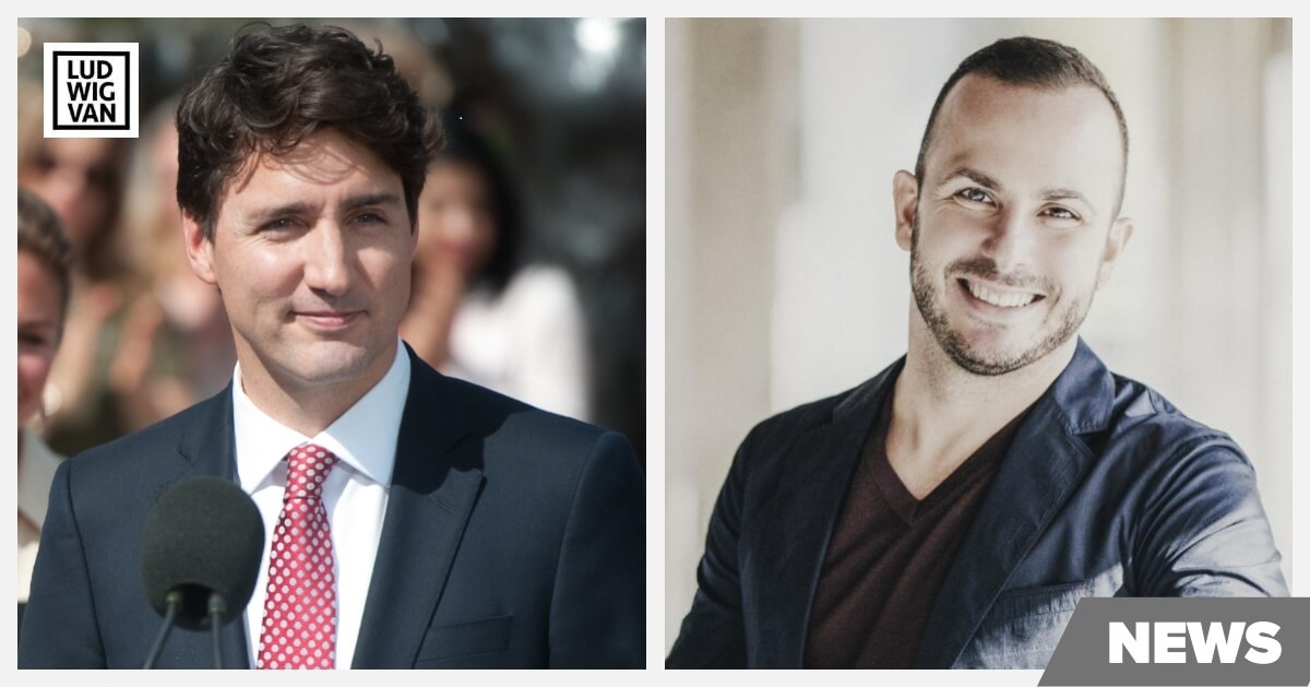 Justin Trudeau and Yannick Nezet-Seguin