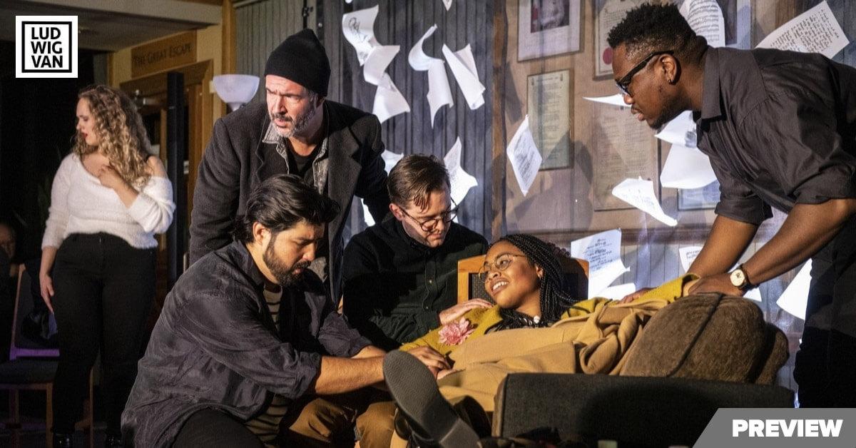 Cast of Against the Grain Theatre's 'La Bohème' on tour