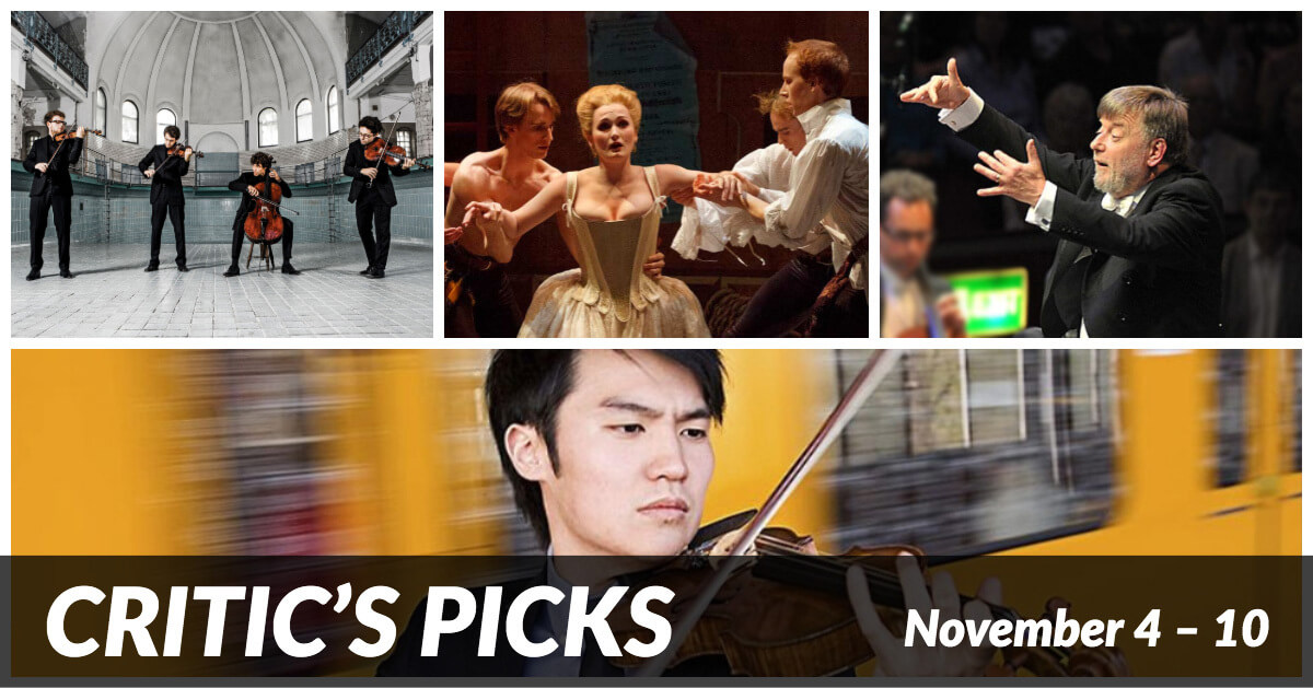 Classical music and opera events happening in and around Toronto for the week of November 4 to 10.