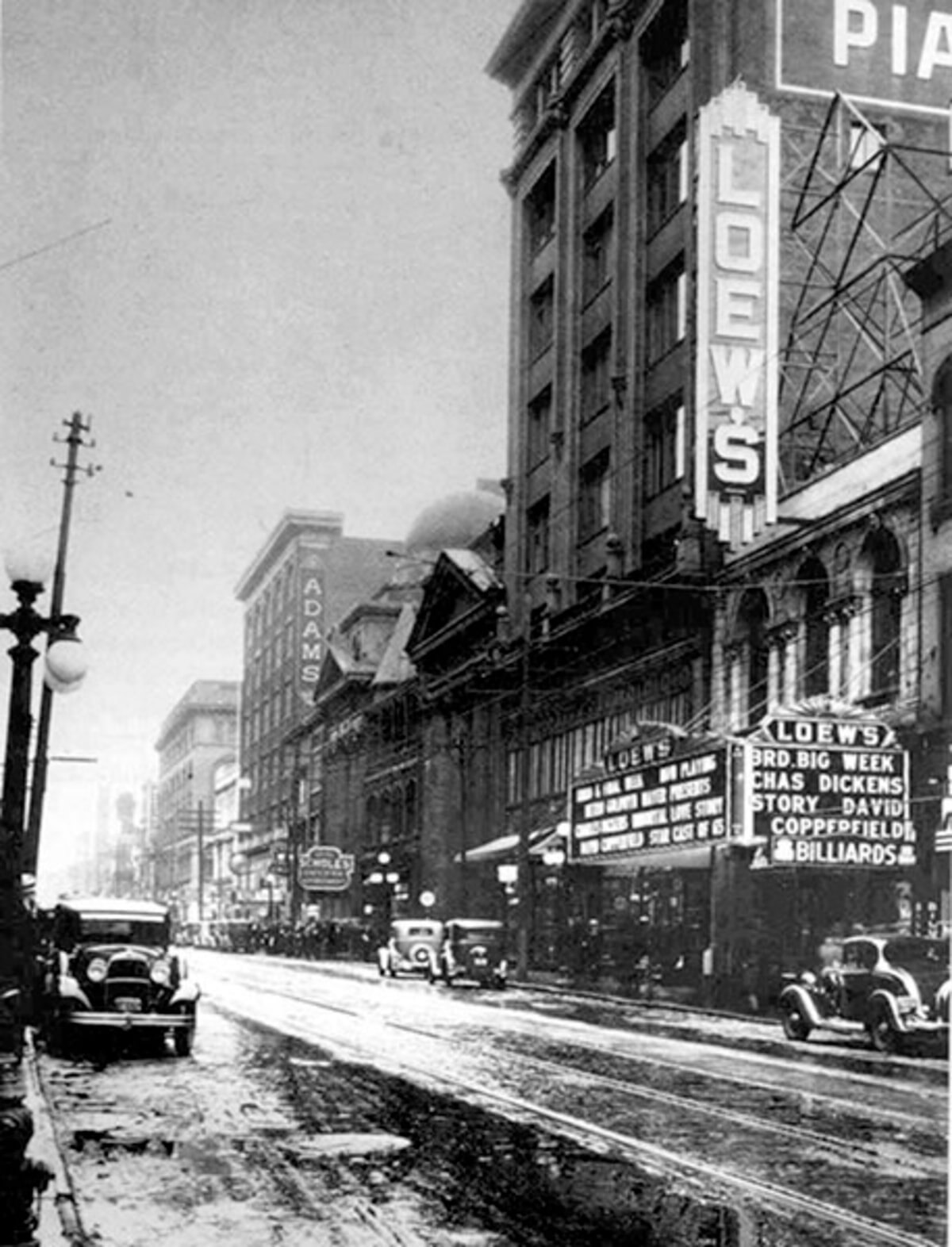 Historic photo of the Loews Theatre from Yonge Street