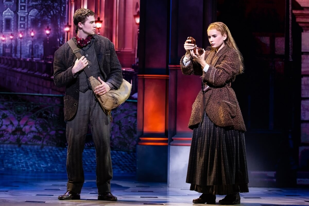 Jake Levy (Dmitry) and Lila Coogan (Anya) in National Tour of ANASTASIA