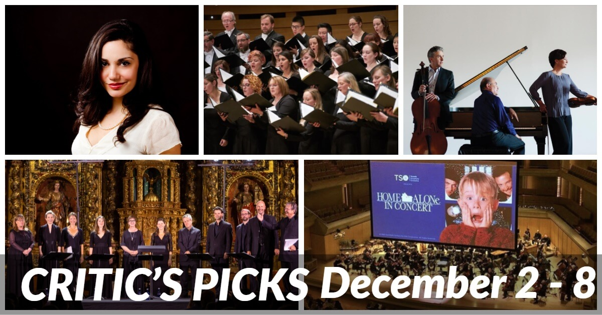 Classical music and opera events happening in and around Toronto for the week of December 2 – 8.