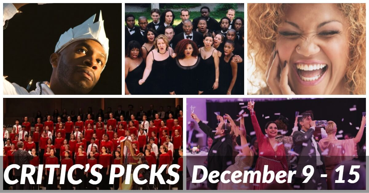 Classical music and opera events happening in and around Toronto for the week of December 9 – 15.