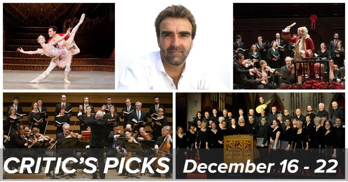 Classical music and opera events happening in and around Toronto for the week of December 16 – 22.