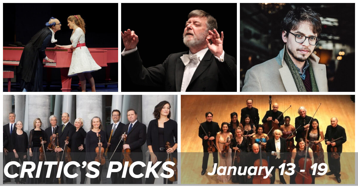 Classical music and opera events happening in and around Toronto for the week of January 13 to 19.