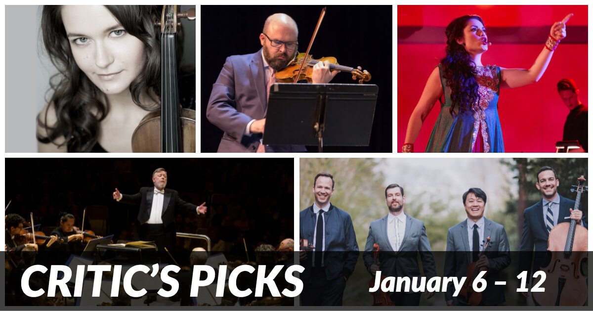 Classical music and opera events happening in and around Toronto for the week of Jan 6 - 12.