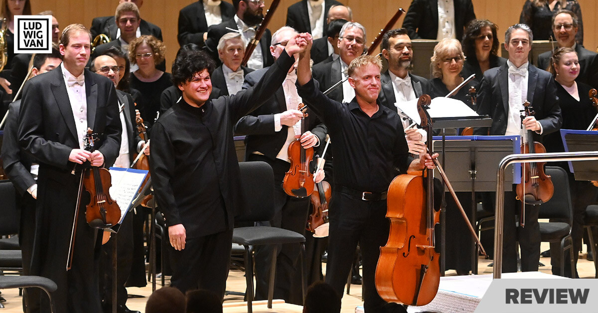 Aziz Shokhakimov, conductor and Joseph Johnson, cellist