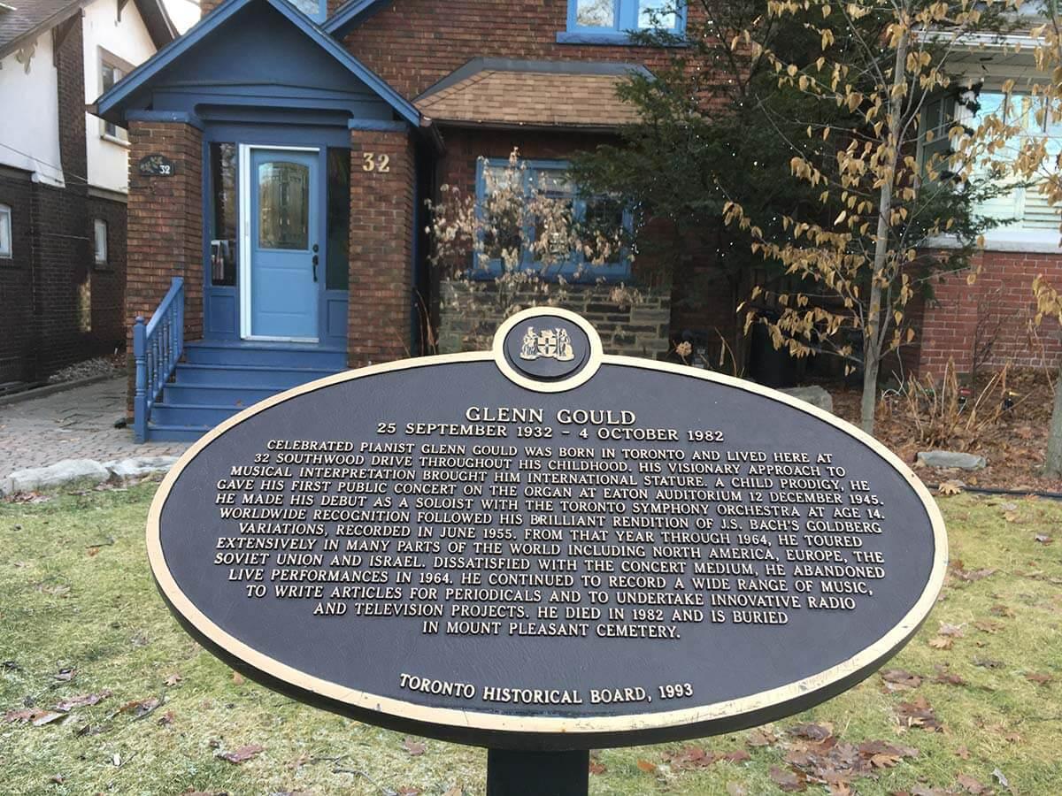 Glenn Gould's childhood home (Photo : Michela Comparey)