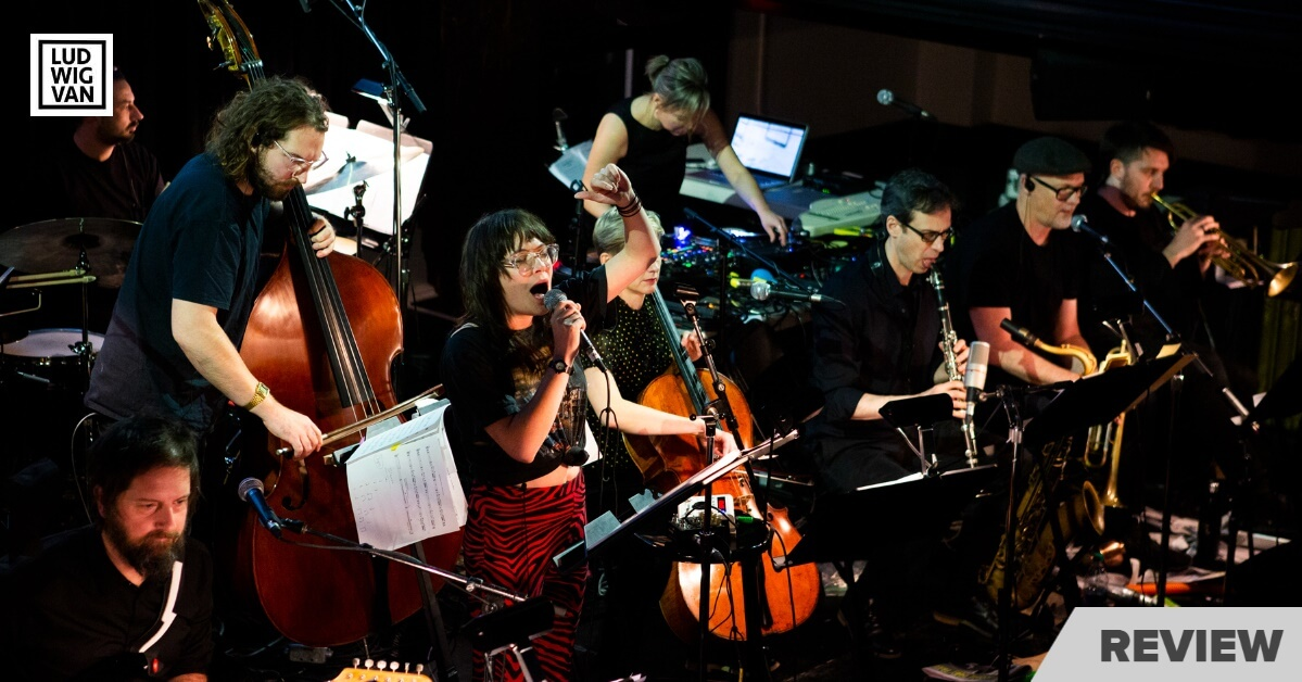 Nicole Lizée and the Australian Art Orchestra perform 'The Lost Karaoke Tapes' (Photo : Claire Harvey)