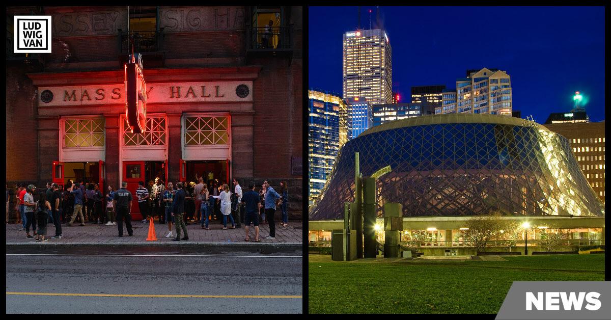 Massey Hall (Arild Vågen) & Roy Thomson Hall (Benson Kua) / Creative Commons