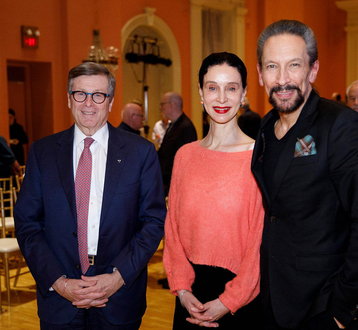 Mayor John Tory with OA Co-Artistic Directors Jeannette Lajeunesse Zingg and Marshall Pynkoski (Image courtesy of Opera Atelier)