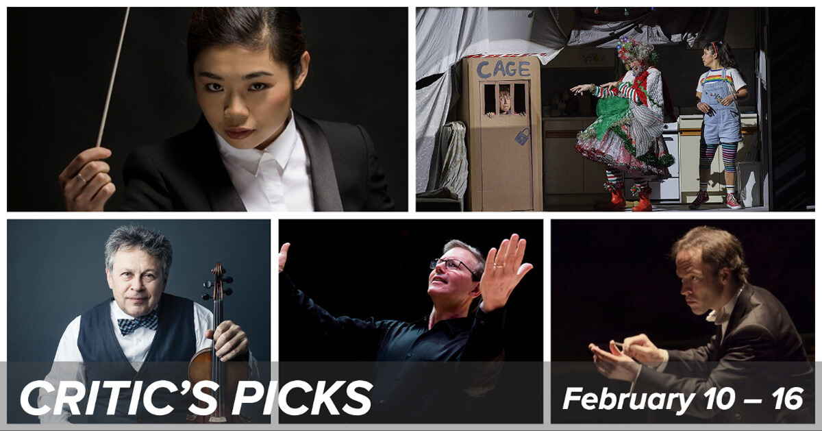 Classical music and opera events happening in and around Toronto for the week of February 10 – 16.