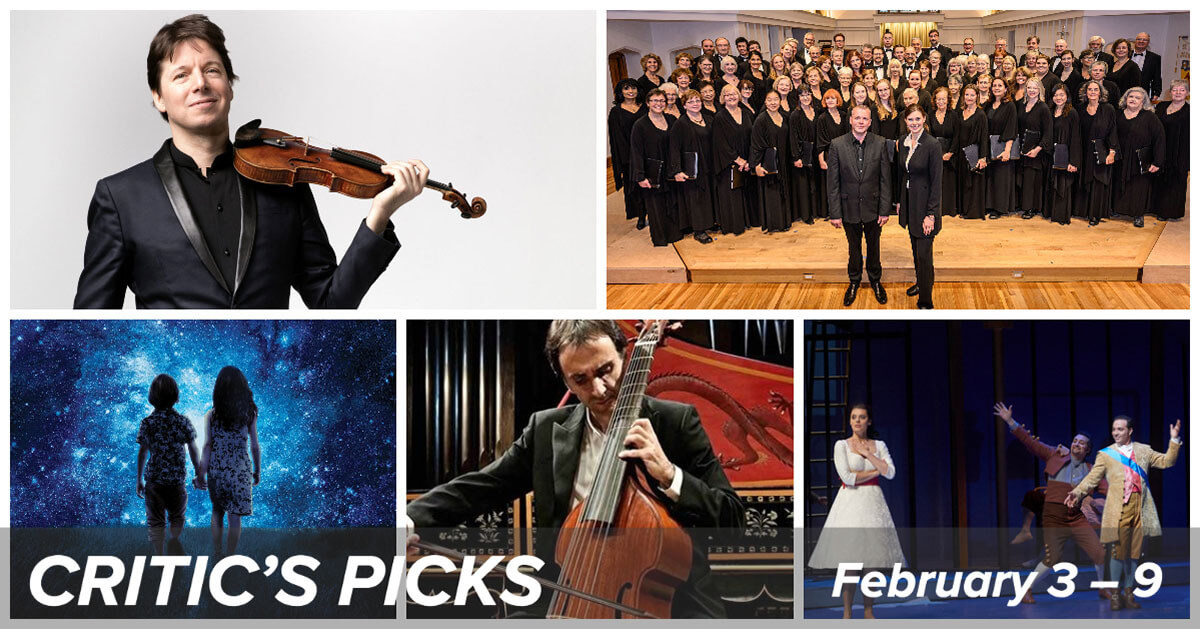 Classical music and opera events happening in and around Toronto for the week of February 3 to 9.