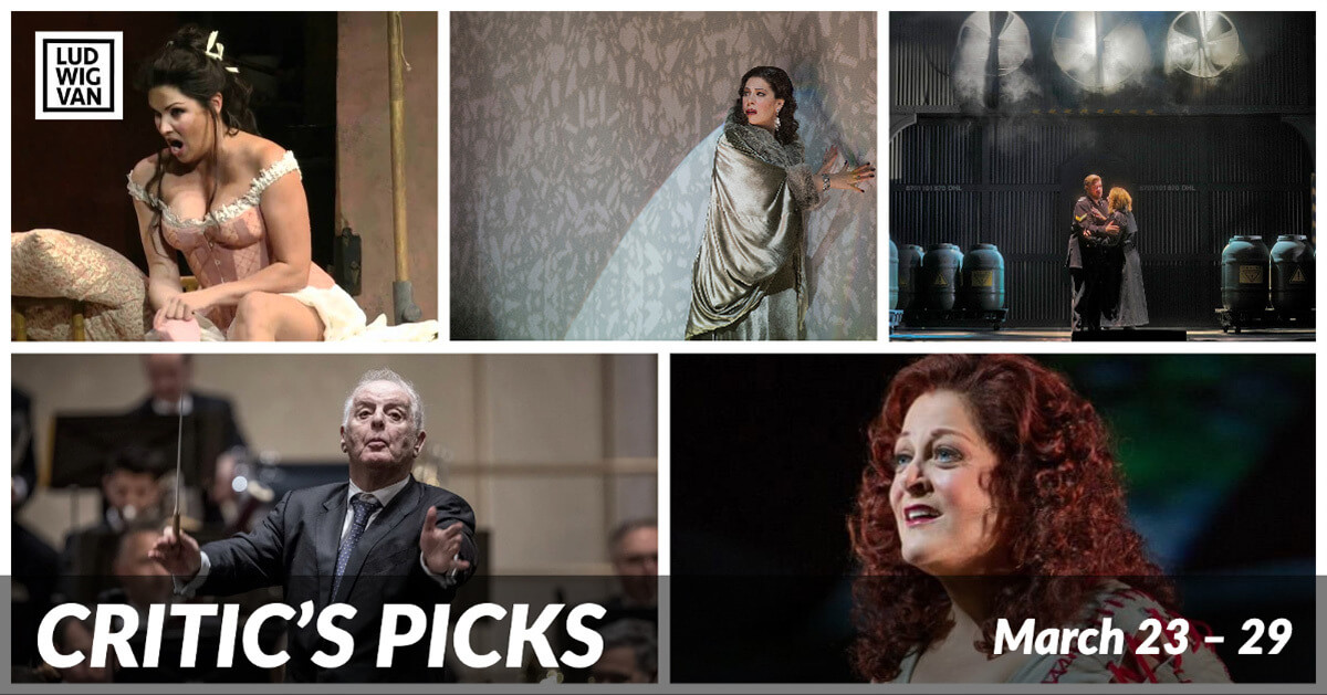 Classical music and opera events streaming on the web for the week of March 23 – 29.