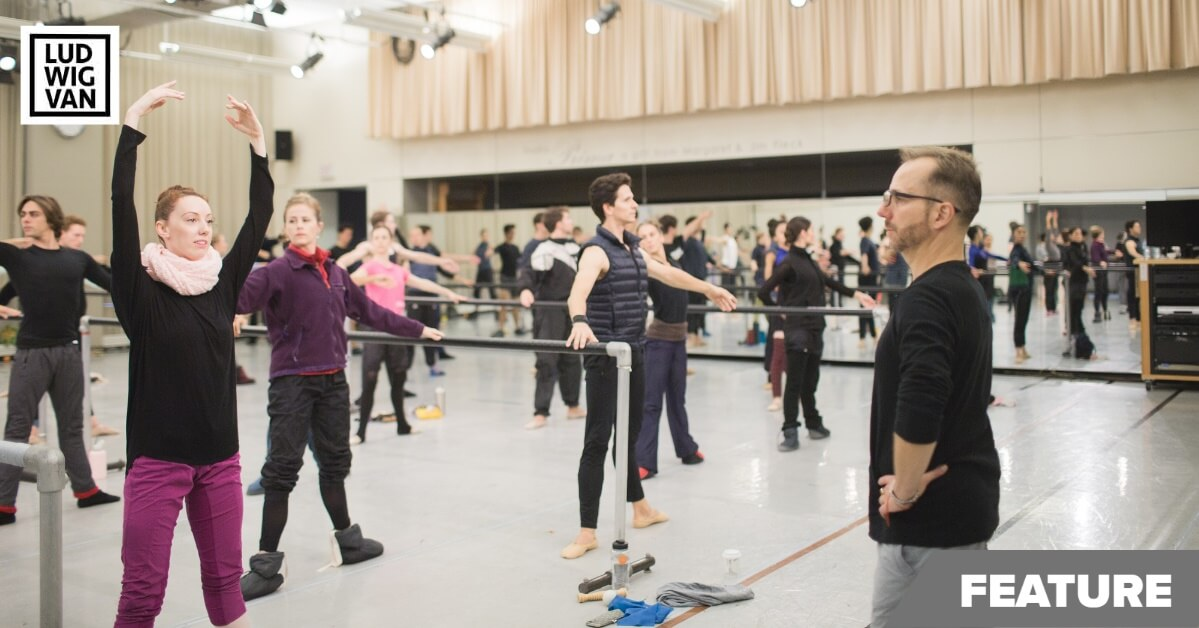 Christopher Stowell and Artists of the Ballet in rehearsal (Photo courtesy of The National Ballet of Canada)