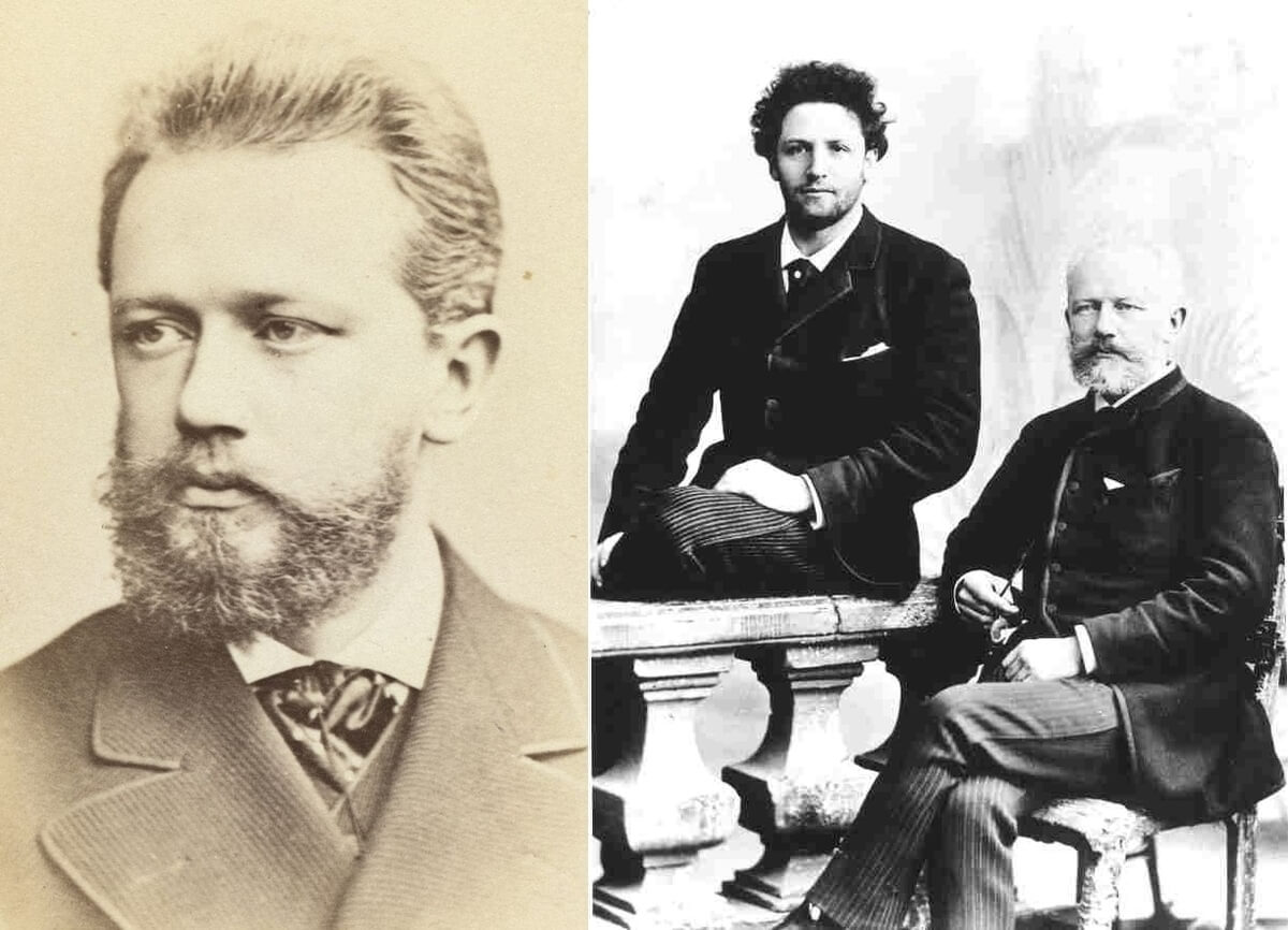 Tchaikovsky between 1880 and 1886 & Anatoli Brandukov (L), a Russian cellist, with Pyotr Tchaikovsky, who dedicated his Pezzo capriccioso, Op. 62 to him. (Public domain image in Canada & the US both {{PD-US-expired}})