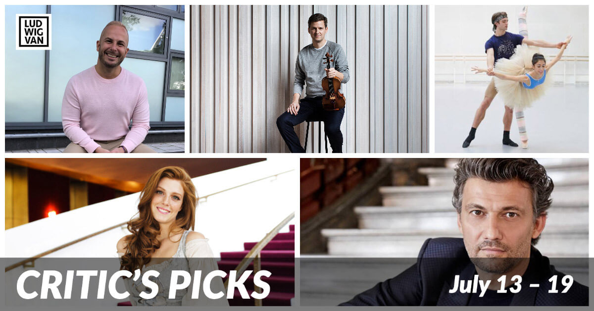 Classical music and opera events streaming on the web for the week of July 13 – 19.