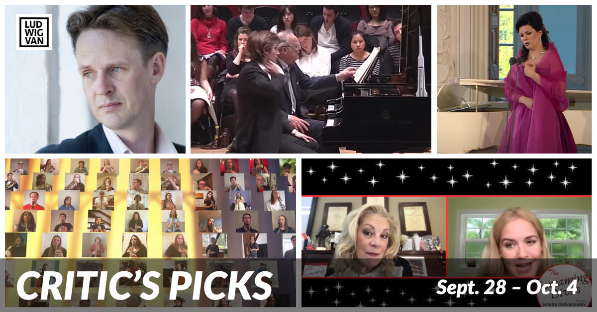 CRITIC'S PICKS | Classical Music Livestreams You Absolutely Need To See This Week (Sept. 28 – Oct. 4)